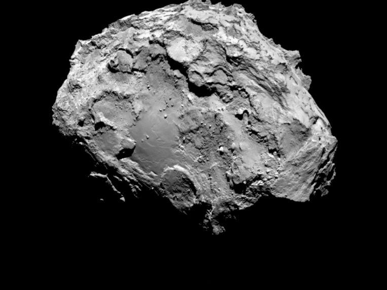 Komeet 67P/Tsjoerjoemov-Gerasimenko waar de Europese ruimtesonde Rosetta na een reis van 10 jaar is gearriveerd. Beeld anp