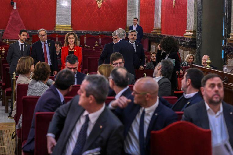 Ook huidig minister-president Quim Torra was aanwezig in de rechtszaal.