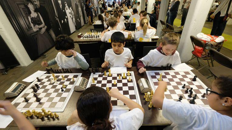 In totaal zakten 120 leerlingen af naar het FelixArchief om deel te nemen aan het schaaktornooi