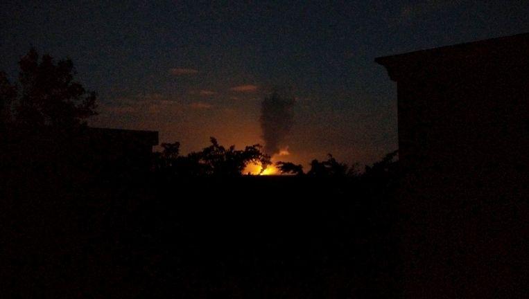 Rook na een explosie van een chemische fabriek in Zhangzhou. Beeld reuters