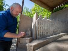 Zandsculpturen in het Kuinderbos: 'Eigenlijk zijn het kijkdozen van zand'