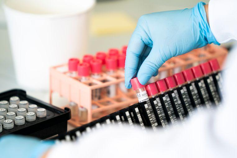 Het laboratorium van de GGD Amsterdam, waar wordt getest op het coronavirus.  Beeld Hollandse Hoogte /  ANP