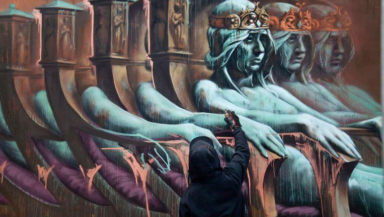 Streetart van Kingsspray Beeld Marco Buddingh