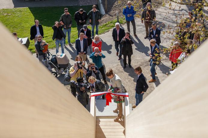 Bij de opening van de Bunkertreppe.