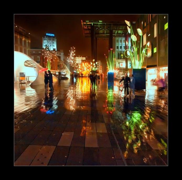 Foto Martien van Hout: 18 Septemberplein (eerste prijs GLOW-fotowedstrijd 2010)