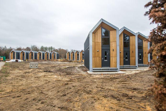 De gemeente Nuenen en Wooninc. willen aan het Witte Hondpad zestien woonunits van het type Heijmans One neerzetten