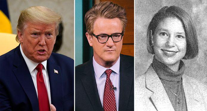 President Donald Trump, presentator Joe Scarborough en wijlen Lori Klausutis.