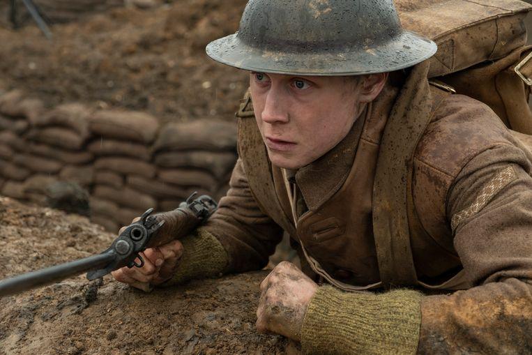 George MacKay als Lance Corporal Schofield in '1917'. Beeld François Duhamel