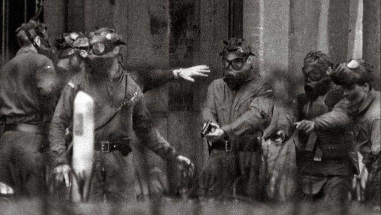Een interventie van de Groep Diane in 1984. Toen was 'De Reus' er al weg, volgens zijn oversten omdat hij per ongeluk een schot had gelost.