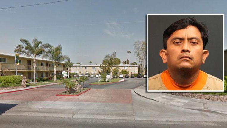 Garcia (inzet) woonde eerder met 'Laura' in het appartementencomplex op de foto in bij haar moeder.
