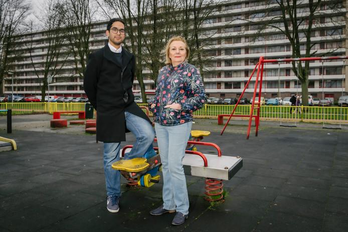 Volgens bestuursleden Siddartha Karaya en Els Wegdam is er in de Utrechtse wijk Overvecht van alles niet pluis.