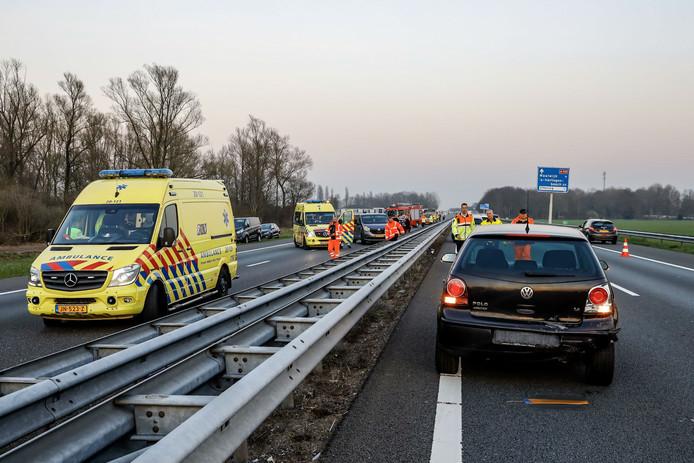 Ernstig ongeluk op de A59 bij Hooipolder.
