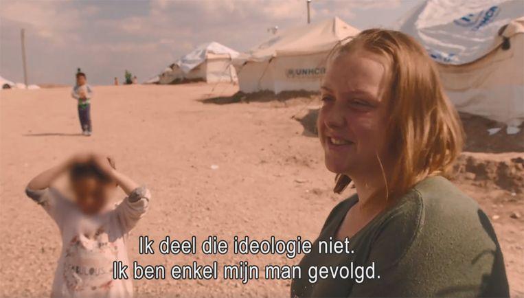 Een Belgische vrouw in het Syrische kamp van Al-Roj
