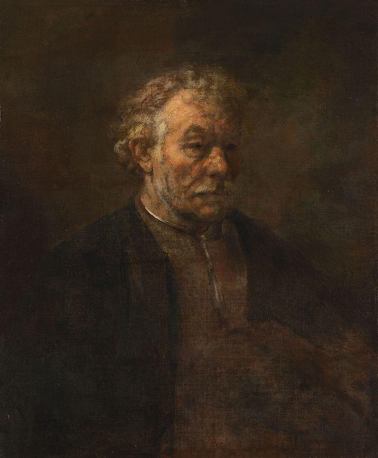 Rembrandt. Tronie van een oude man, 1650. Beeld null