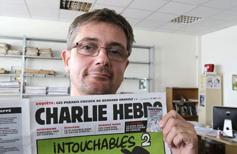 Stephane Charbonnier (Charb), de vermoorde hoofdredacteur van Charlie Hebdo. Beeld ap