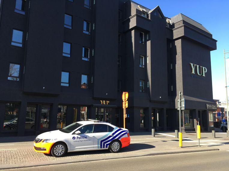 Het lichaam van de schutter werd in dit Hasseltse hotel aangetroffen.