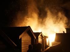 Brand verwoest schuur in Gouda