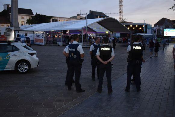 De politie hield een oogje in het zeil.