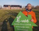 Wethouder Jan-Willem Stoop op het E-veld Terheijden in 2018.