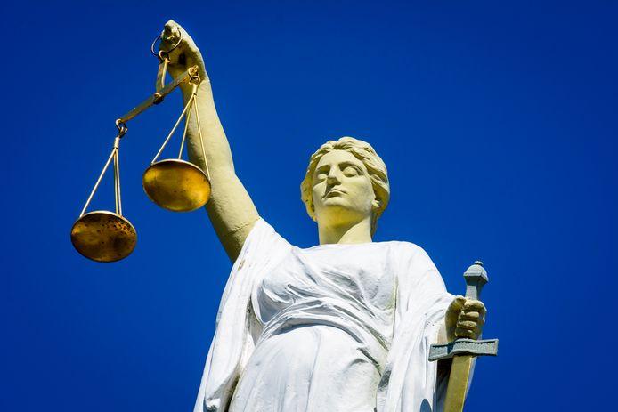 Vrouwe Justitia, foto ter illustratie.
