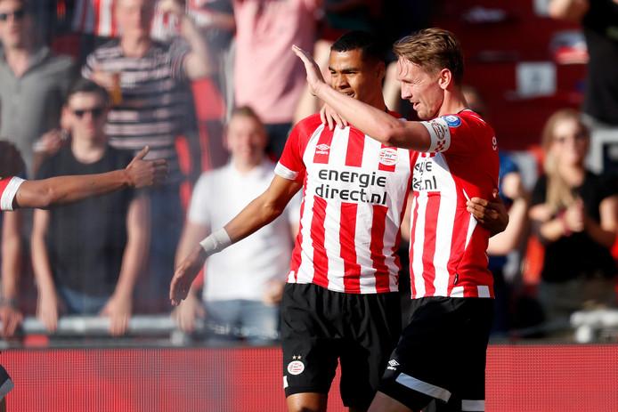 Cody Gakpo en Luuk de Jong.