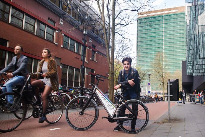 Maarten Veenendaal loopt wel warm voor de Campusbike.
