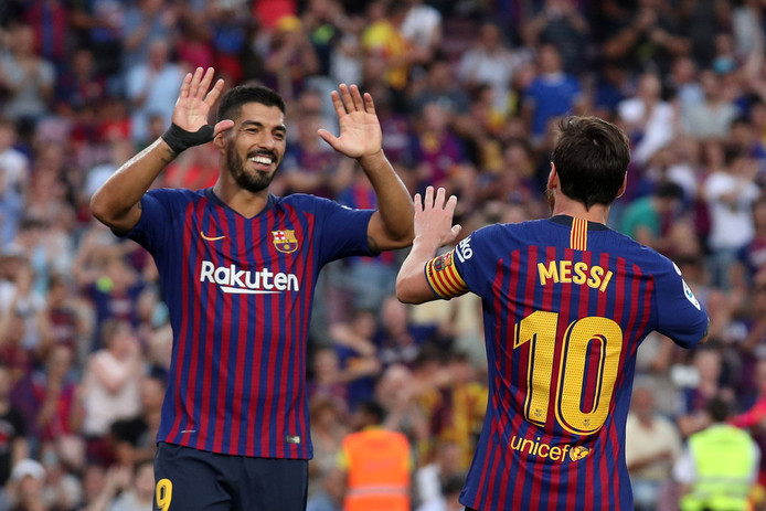Luis Suárez juicht met de beste speler ooit in zijn ogen: Lionel Messi