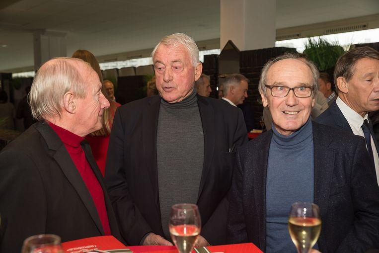 Paul Van Himst naast Wilfried Van Moer (r).