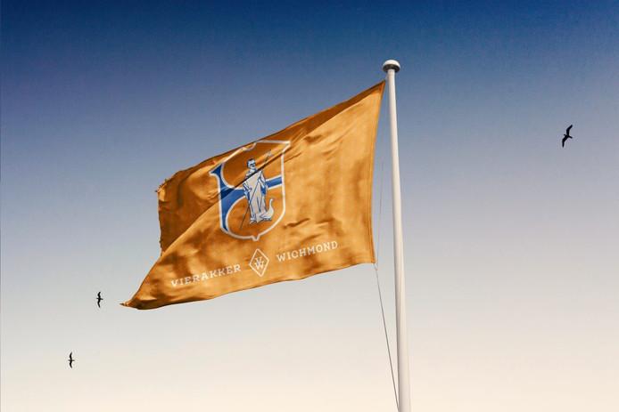 De jubileumvlag wapperde al tijdens het openluchtstuk De Bewaarder