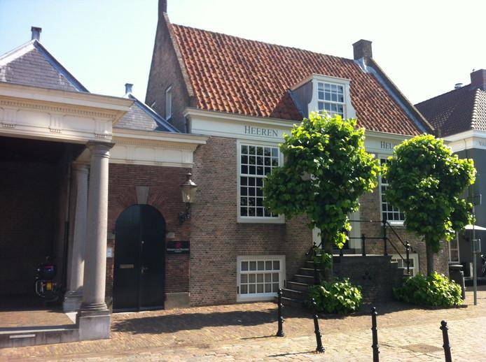 Het Commiezenhuis in  Heusden, een prominente vestingstad in de Zuiderwaterlinie.