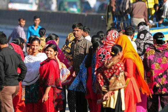 Arbeiders in Bangladesh protesteren tegen de lage lonen.