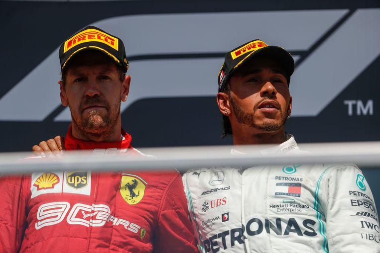 Vettel en Hamilton.