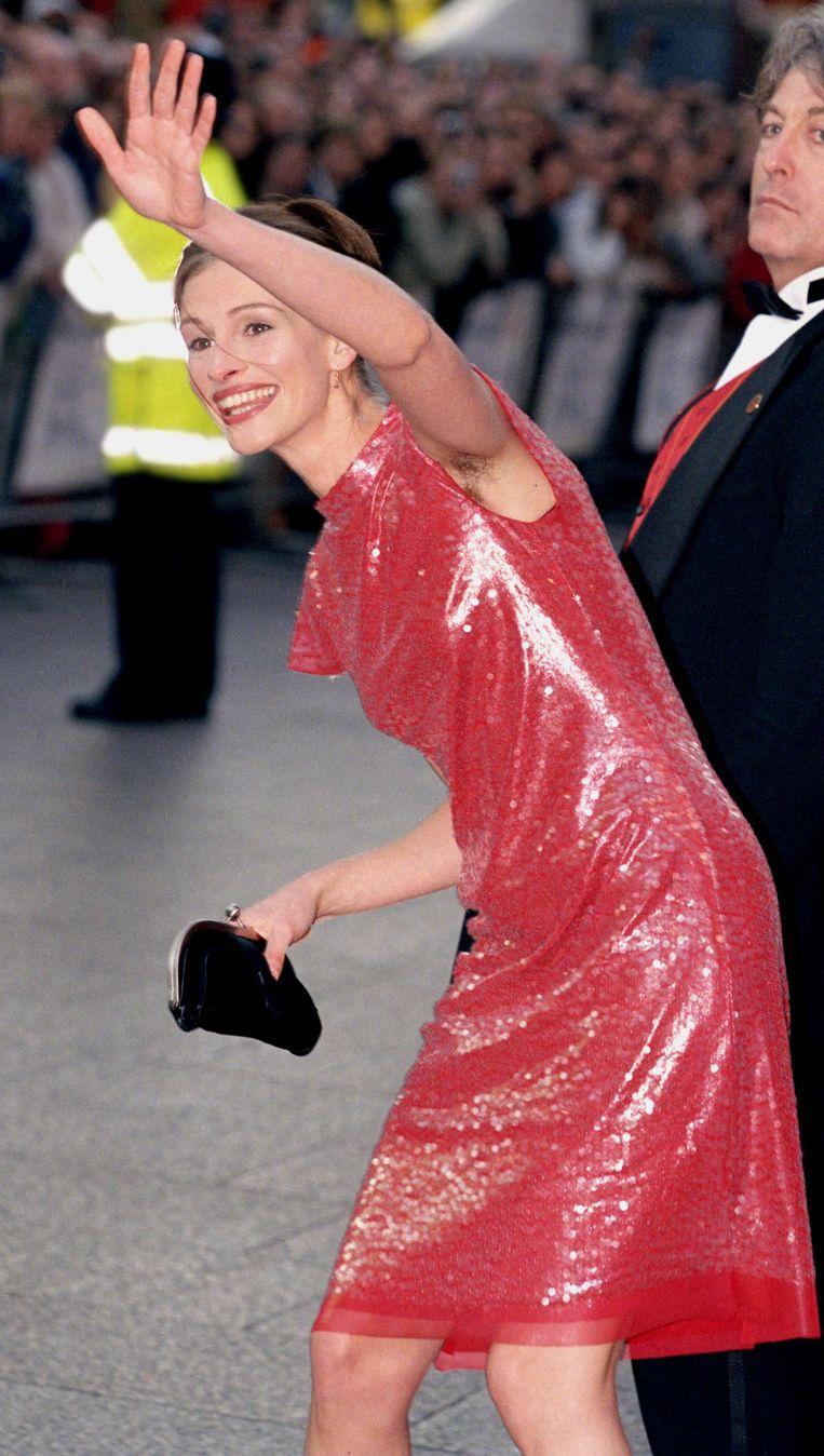 Julia Roberts' okselhaar in '99 Beeld Getty Images