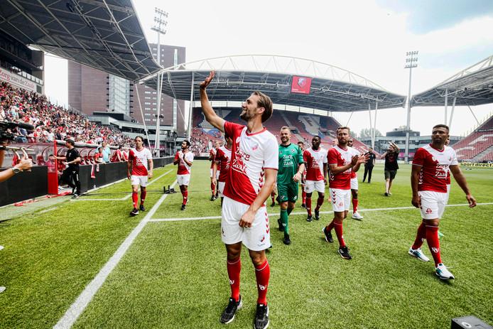 De spelers van FC Utrecht bij de Open Dag