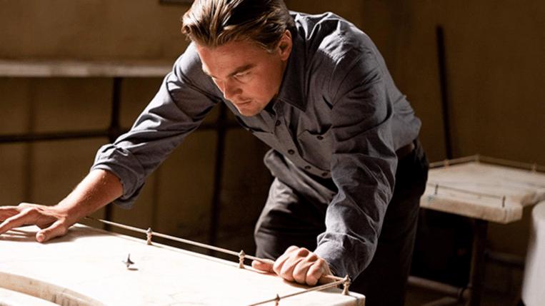 Leonardo DiCaprio in Inception van Christopher Nolan. Beeld