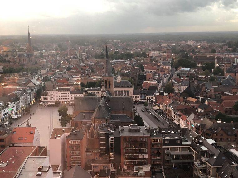 Het uitzicht vanuit restaurant Hert