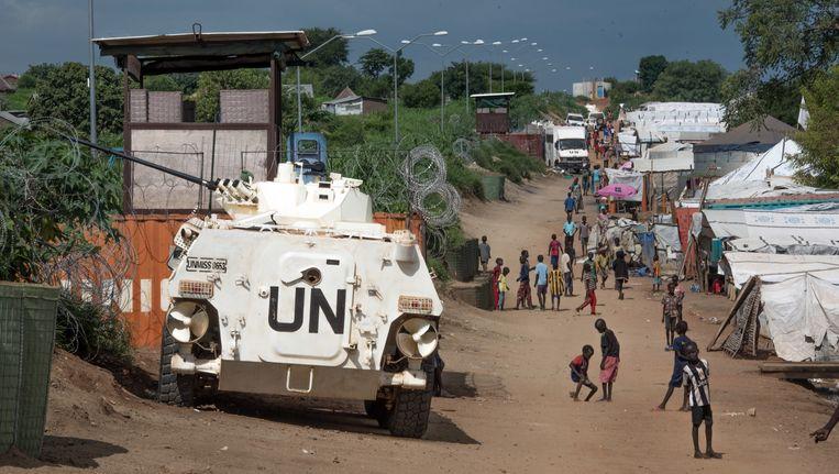 Vluchtelingen in een VN-kamp in Zuid-Soedan.
