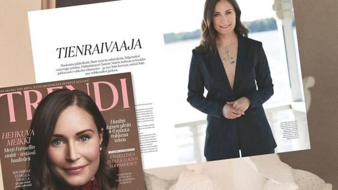 """Fins magazine reageert op ophef om decolleté van premier: """"Bij anderen was dit geen probleem"""""""