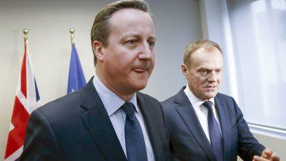 """Tusk: """"Cameron had nooit gedacht dat zijn beloofde brexit-referendum zou doorgaan"""""""