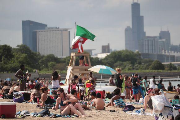 Street Beach in Chicago, Illinois.