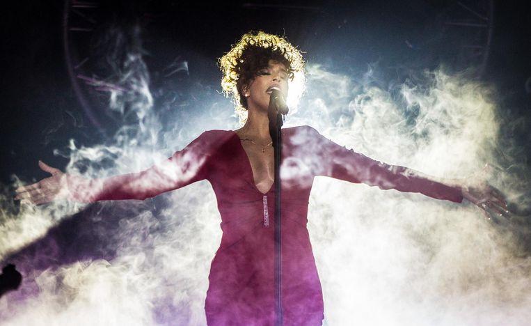 Glennis Grace tijdens haar concert Whitney - a tribute by Glennis Grace in AFAS live. Beeld anp