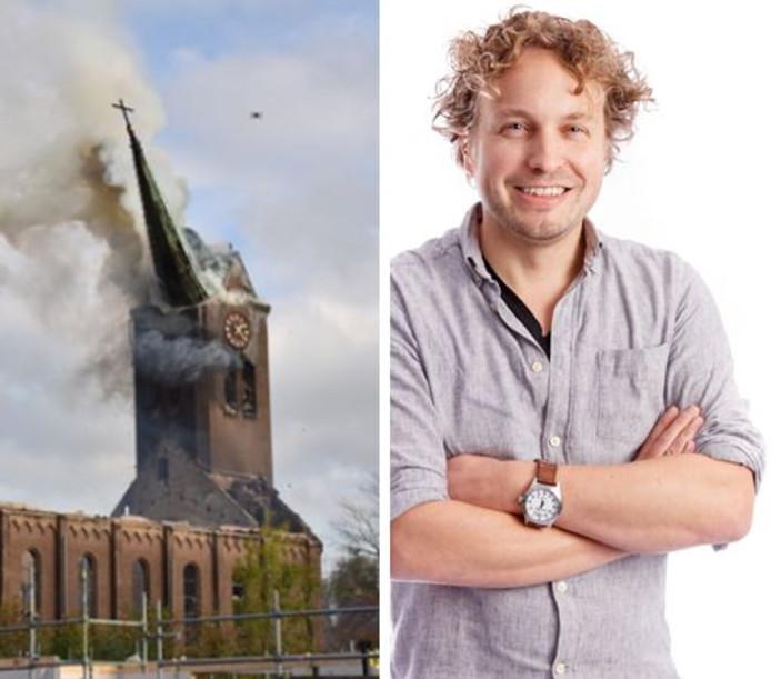 De torenpunt van de kerk in Hoogmade stort in. Het deed columnist Niels Herijgens aan Parijs denken.