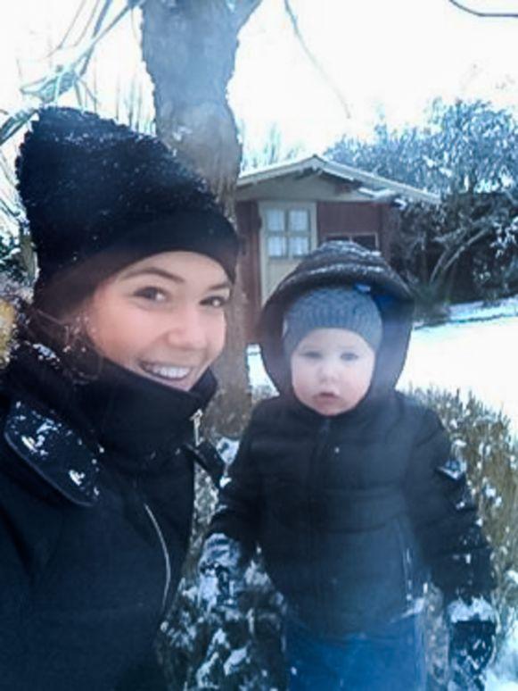 Bocholt Larissa Heylen met zoontje Dries.