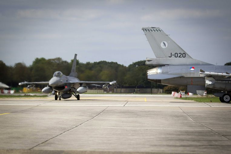 Nederlandse F16's. Beeld EPA