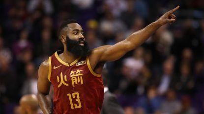 James Harden weer niet te stuiten: 27ste wedstrijd op rij meer dan 30 punten voor Rockets