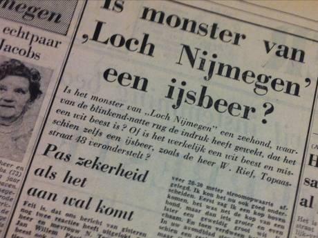 'Monster van Loch Nijmegen' in Waal en Rijn was uniek spektakel