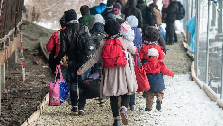 Vluchtelingen in Passau, Duitsland. Beeld anp