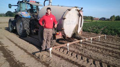 Maïs kiemt niet door droogte. Boer Dieter sproeit gericht met eigen buizensysteem