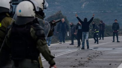 Protest tegen detentiecentra voor migranten houdt aan op Griekse eilanden