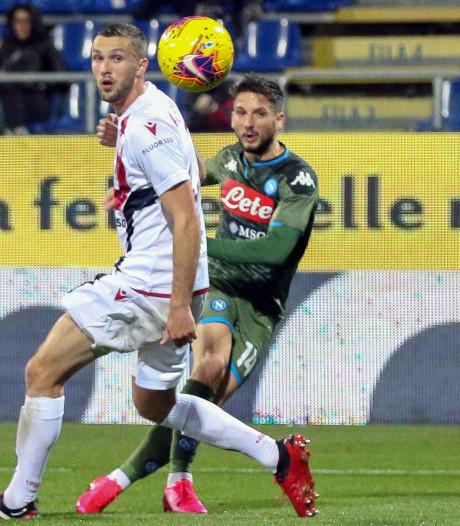 Mertens helpt Napoli aan knappe uitzege en nadert clubrecord Hamsik